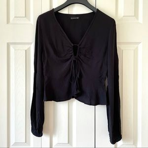 New Adjustable Long Sleeve Cropped Top